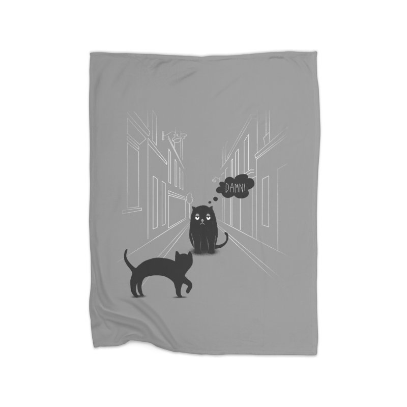 The Superstitious Cat Home Blanket by Jana Artist Shop