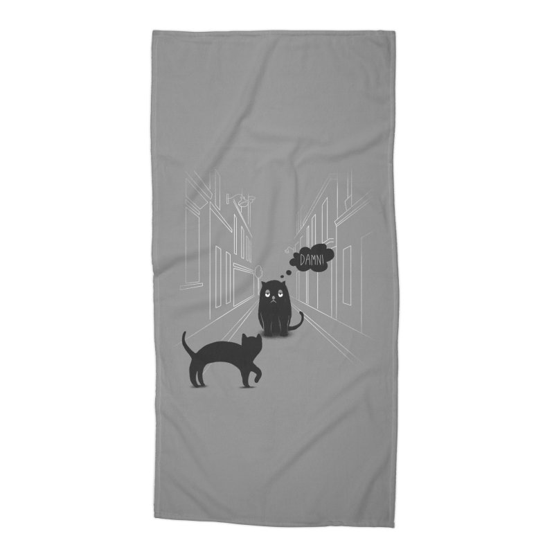 The Superstitious Cat Accessories Beach Towel by Jana Artist Shop