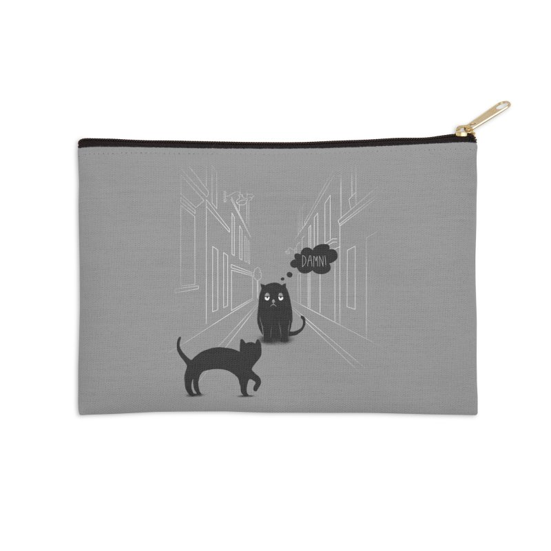 The Superstitious Cat Accessories Zip Pouch by Jana Artist Shop