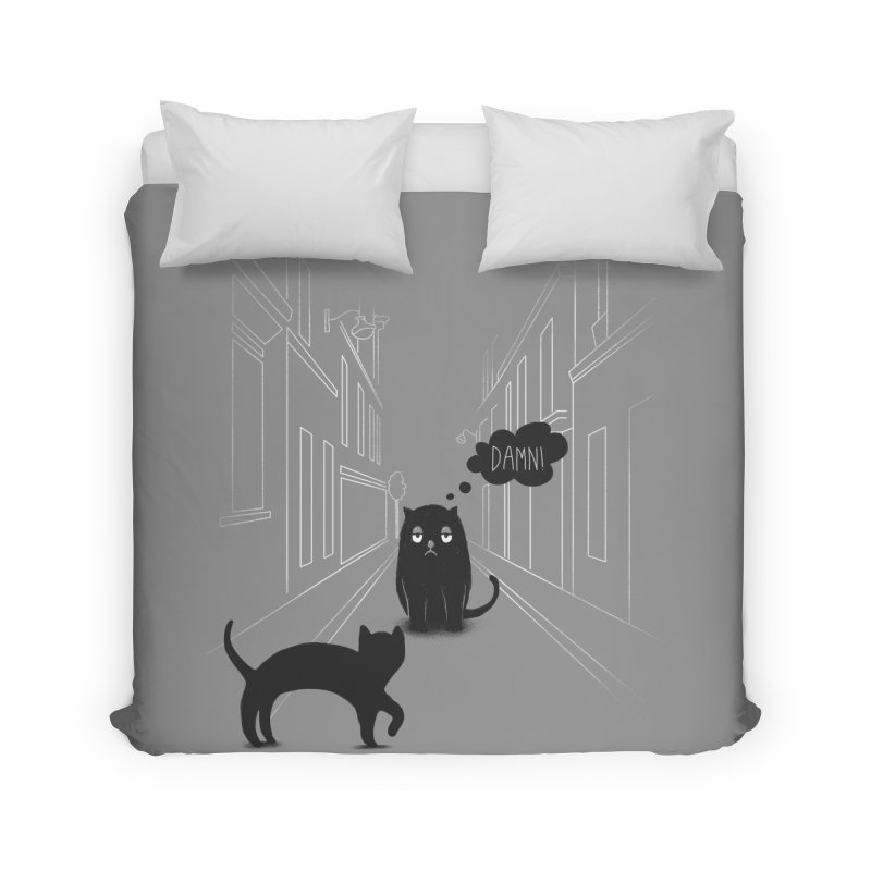 The Superstitious Cat Home Duvet by Jana Artist Shop