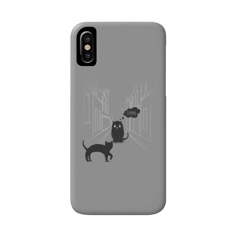 The Superstitious Cat Accessories Phone Case by Jana Artist Shop