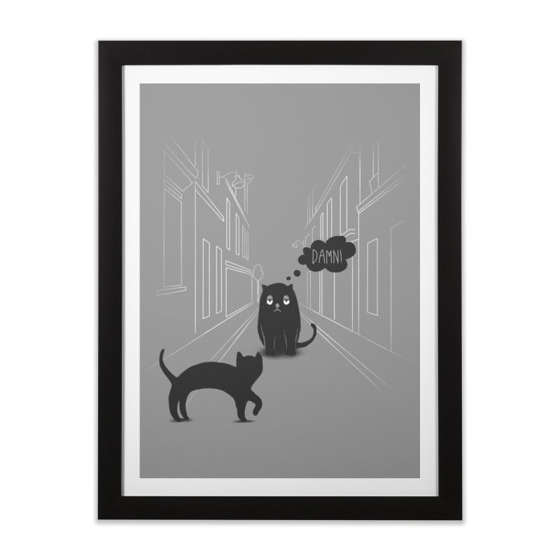 The Superstitious Cat Home Framed Fine Art Print by Jana Artist Shop
