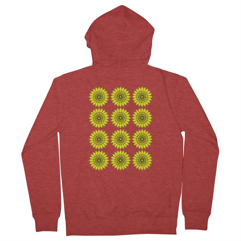 Daisy Day  Women's French Terry Zip-Up Hoody by jandeangelis's Artist Shop