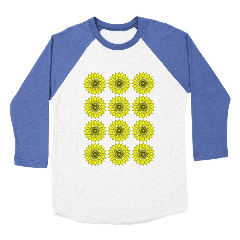 Daisy Day  Women's Baseball Triblend Longsleeve T-Shirt by jandeangelis's Artist Shop