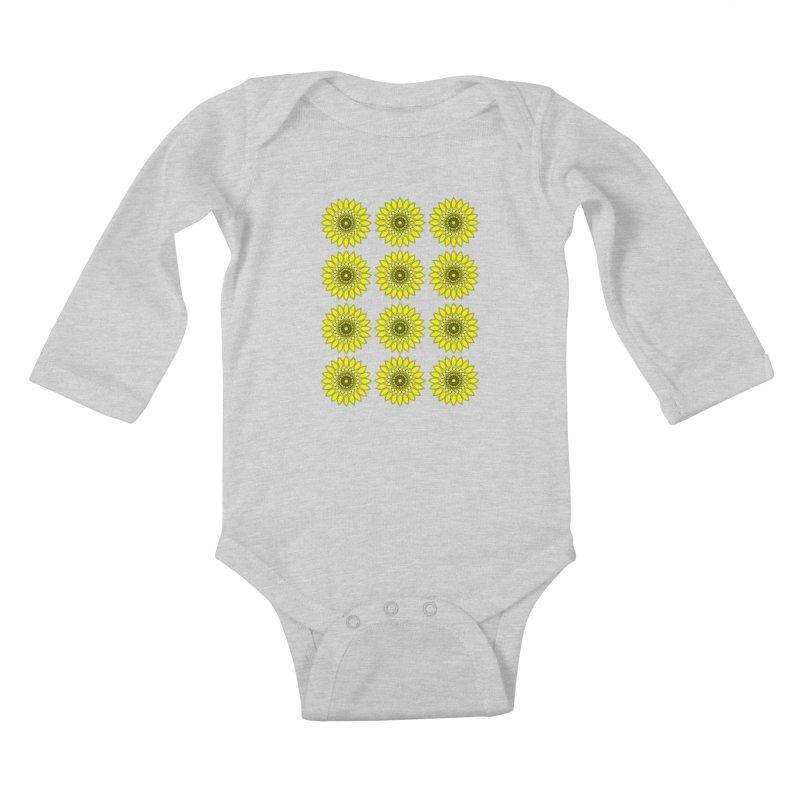 Daisy Day  Kids Baby Longsleeve Bodysuit by jandeangelis's Artist Shop