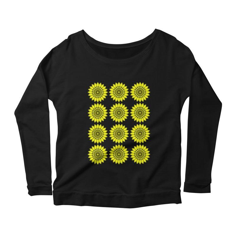 Daisy Day  Women's Scoop Neck Longsleeve T-Shirt by jandeangelis's Artist Shop