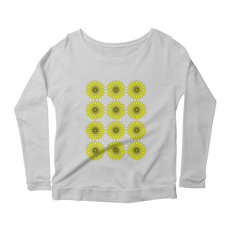 Daisy Day  Women's Scoop Neck Longsleeve T-Shirt by jandeangelis's Artist Shop