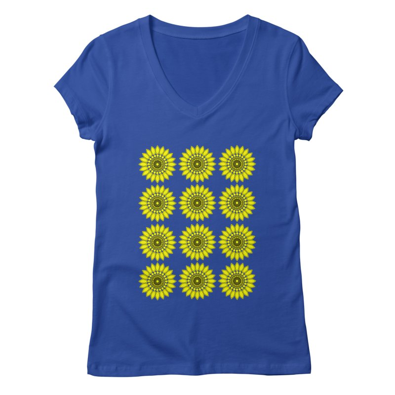 Daisy Day  Women's Regular V-Neck by jandeangelis's Artist Shop