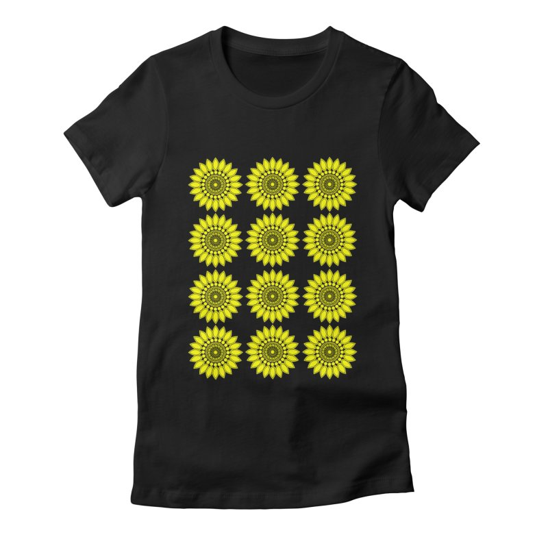 Daisy Day  Women's Fitted T-Shirt by jandeangelis's Artist Shop