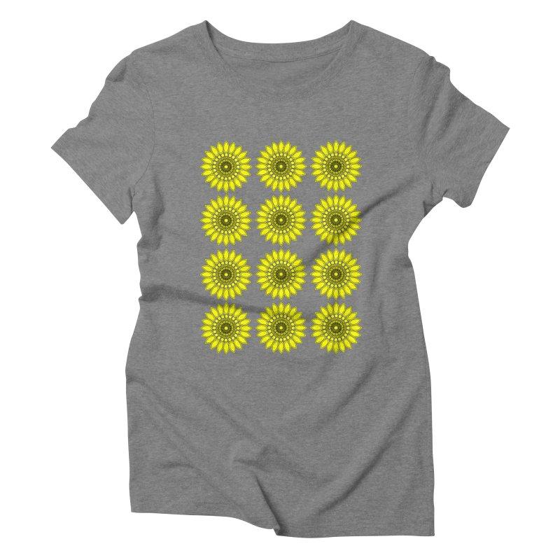 Daisy Day  Women's Triblend T-shirt by jandeangelis's Artist Shop
