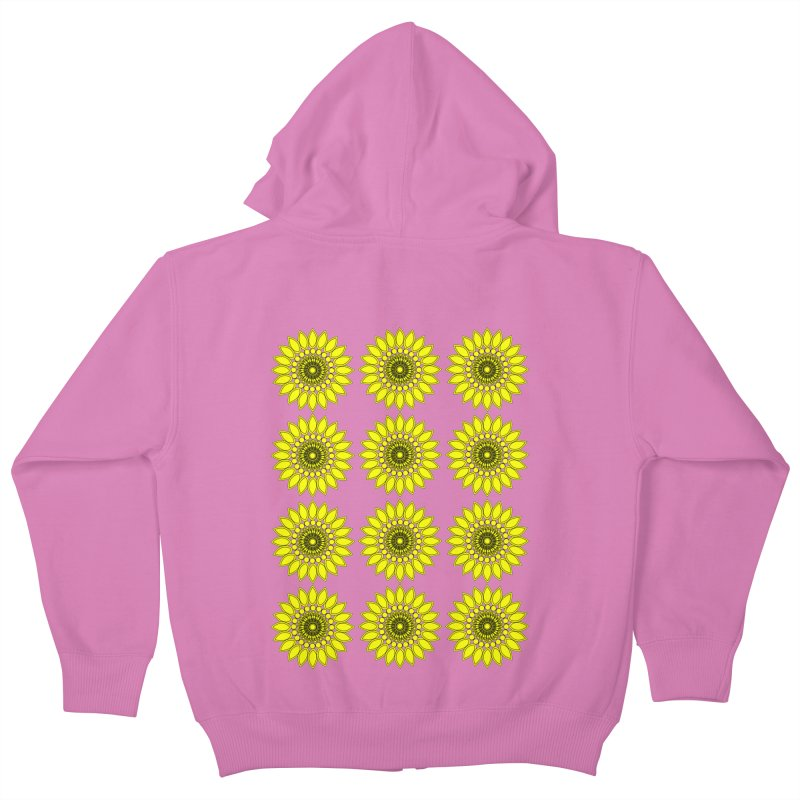 Daisy Day  Kids Zip-Up Hoody by jandeangelis's Artist Shop