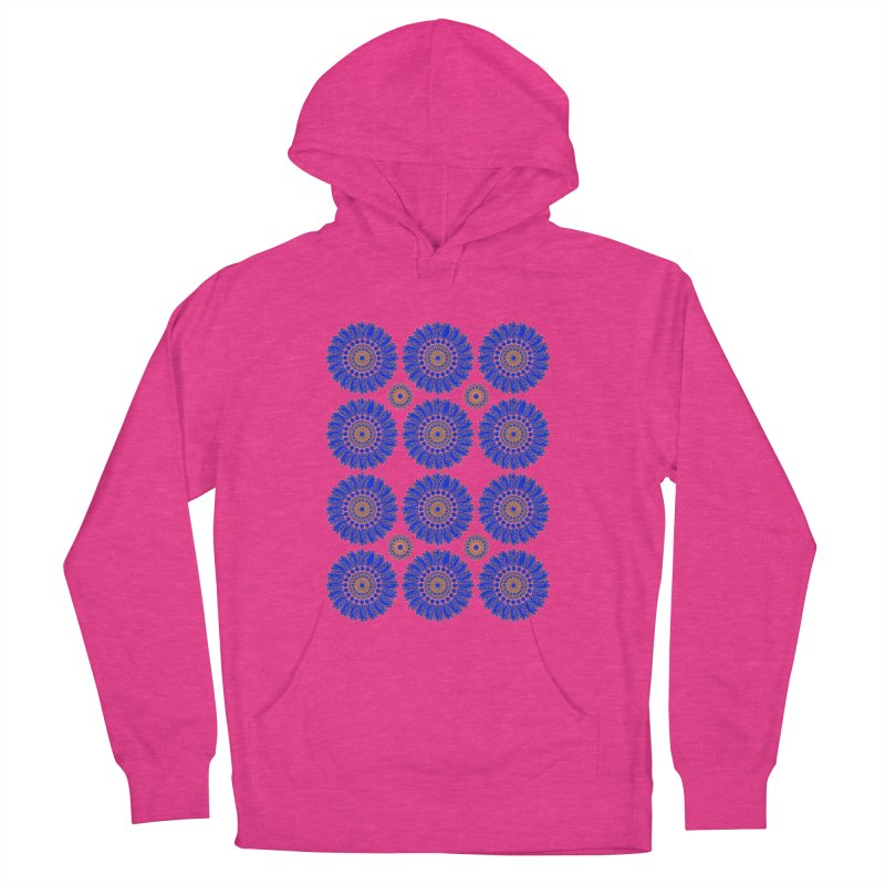 Blue Daisy  Women's Pullover Hoody by jandeangelis's Artist Shop