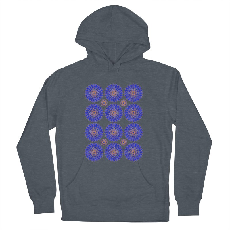 Blue Daisy  Women's French Terry Pullover Hoody by jandeangelis's Artist Shop