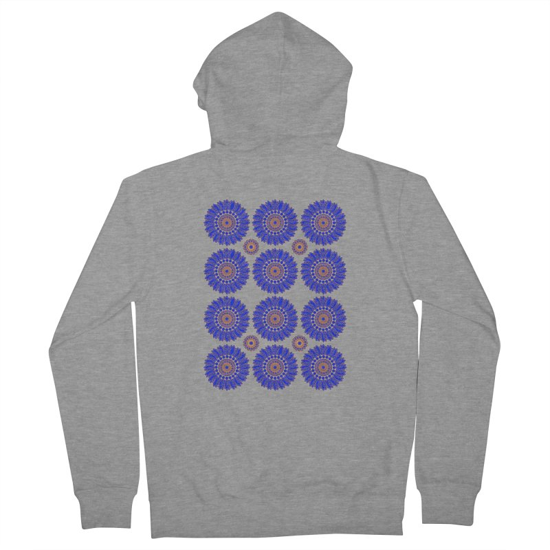 Blue Daisy  Women's French Terry Zip-Up Hoody by jandeangelis's Artist Shop