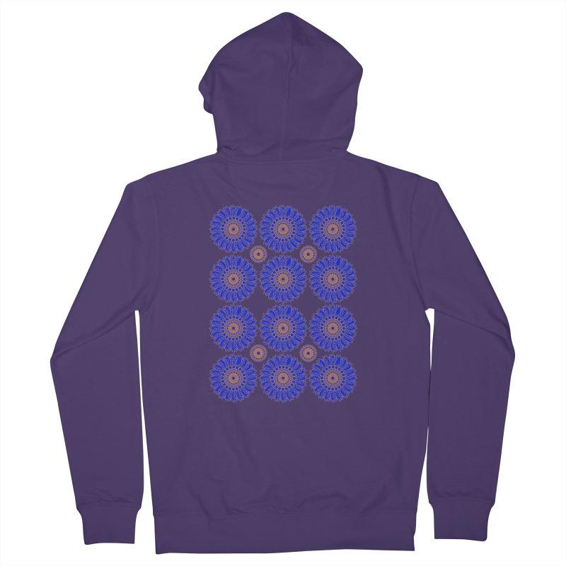 Blue Daisy  Women's Zip-Up Hoody by jandeangelis's Artist Shop
