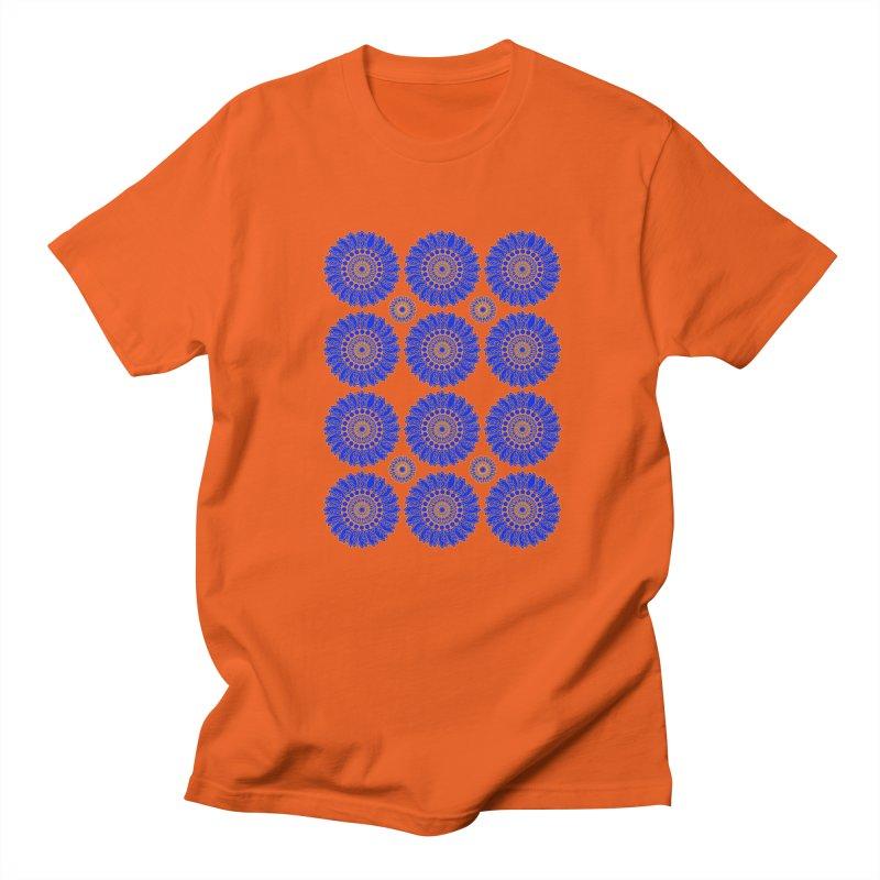 Blue Daisy  Women's Regular Unisex T-Shirt by jandeangelis's Artist Shop