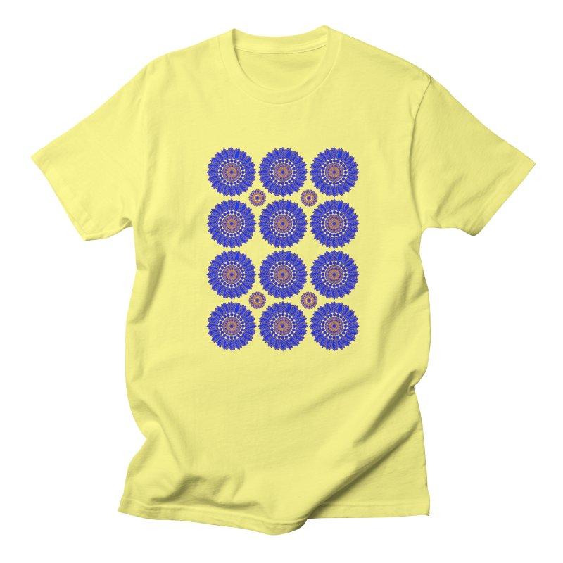 Blue Daisy  Women's Unisex T-Shirt by jandeangelis's Artist Shop