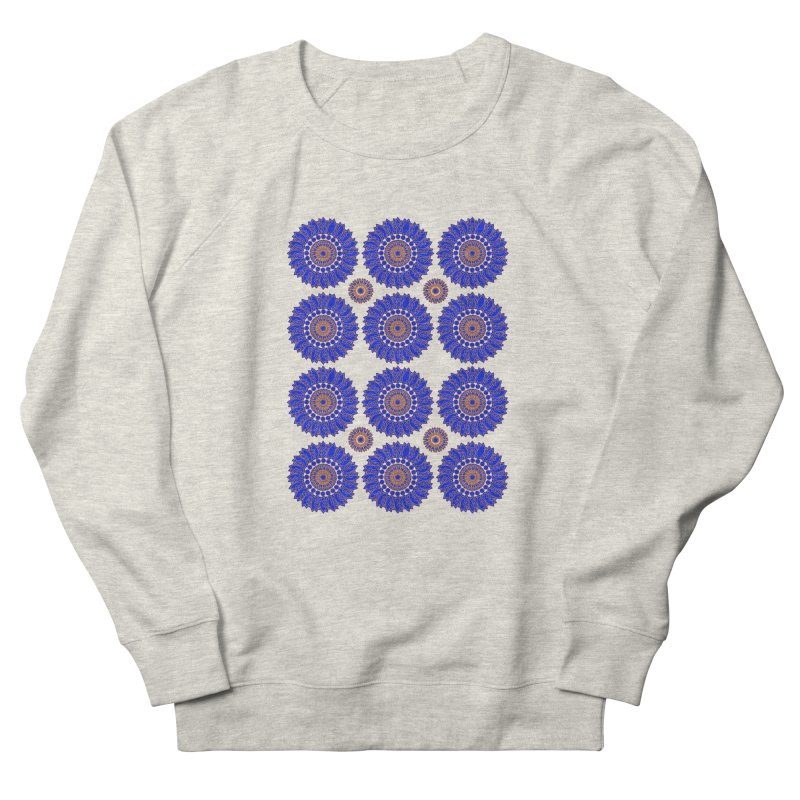 Blue Daisy  Women's French Terry Sweatshirt by jandeangelis's Artist Shop