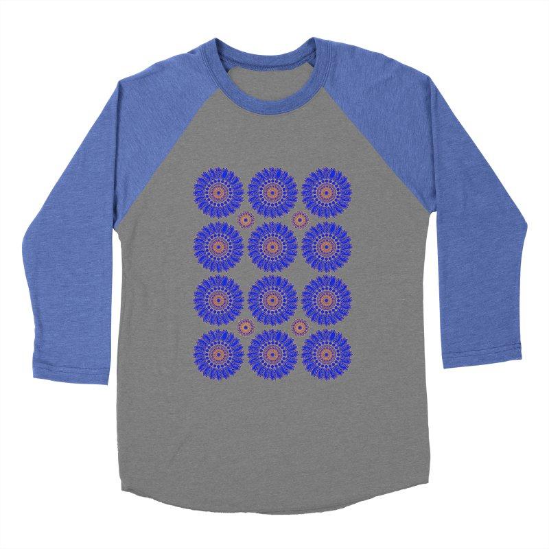 Blue Daisy  Women's Baseball Triblend Longsleeve T-Shirt by jandeangelis's Artist Shop