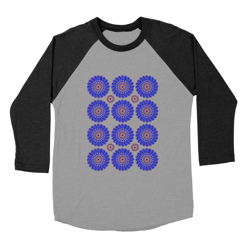 Blue Daisy  Women's Baseball Triblend T-Shirt by jandeangelis's Artist Shop