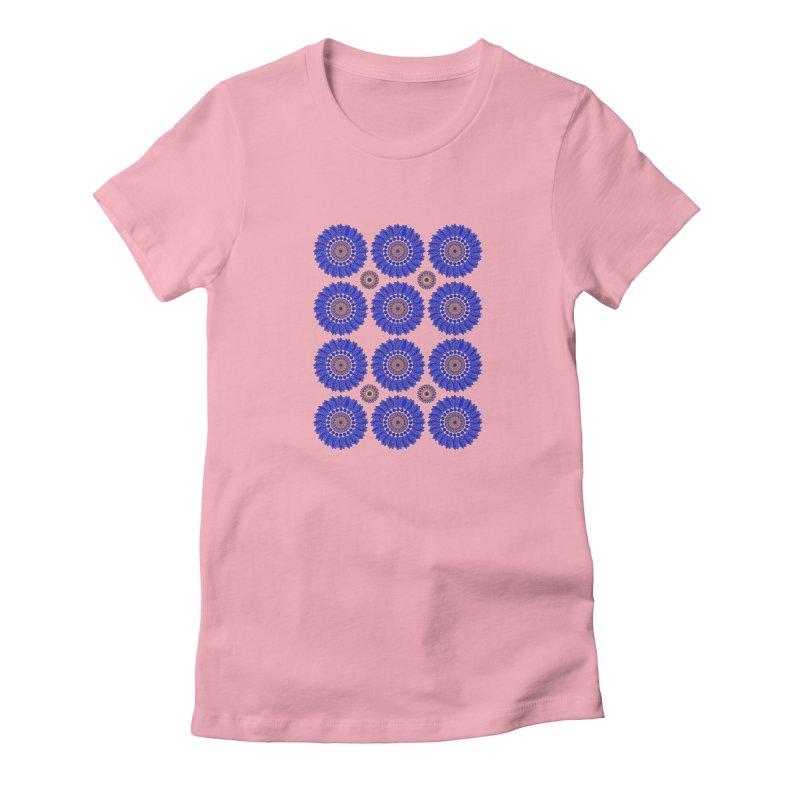Blue Daisy  Women's T-Shirt by jandeangelis's Artist Shop