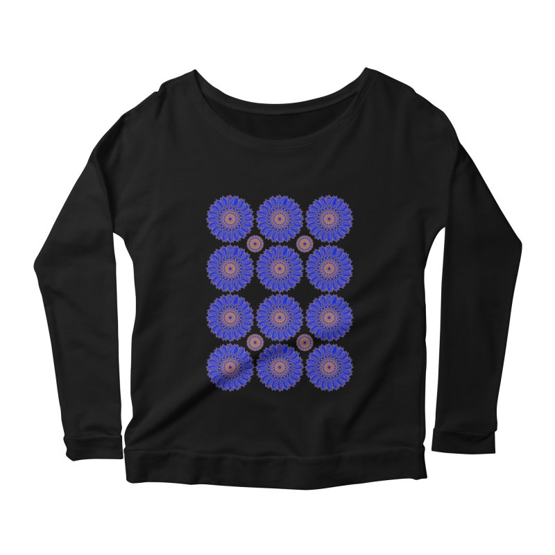 Blue Daisy  Women's Scoop Neck Longsleeve T-Shirt by jandeangelis's Artist Shop