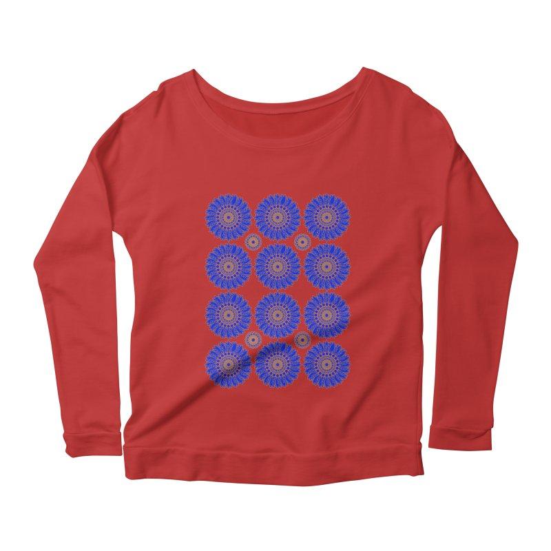 Blue Daisy  Women's Scoop Neck Longsleeve T-Shirt by jandeangelis's Artist Shop