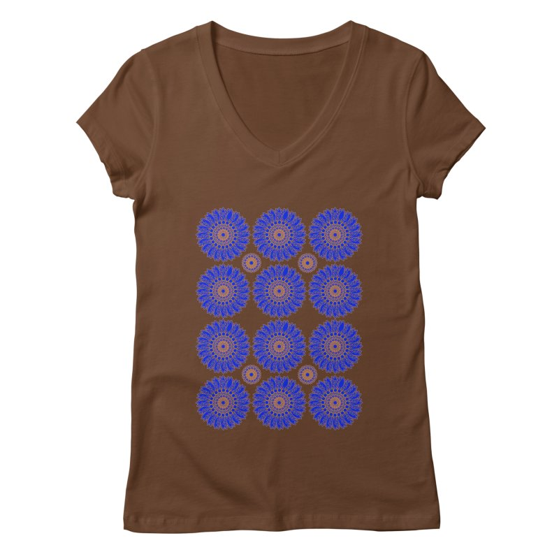 Blue Daisy  Women's V-Neck by jandeangelis's Artist Shop
