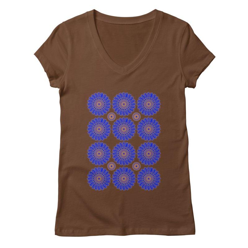 Blue Daisy  Women's Regular V-Neck by jandeangelis's Artist Shop