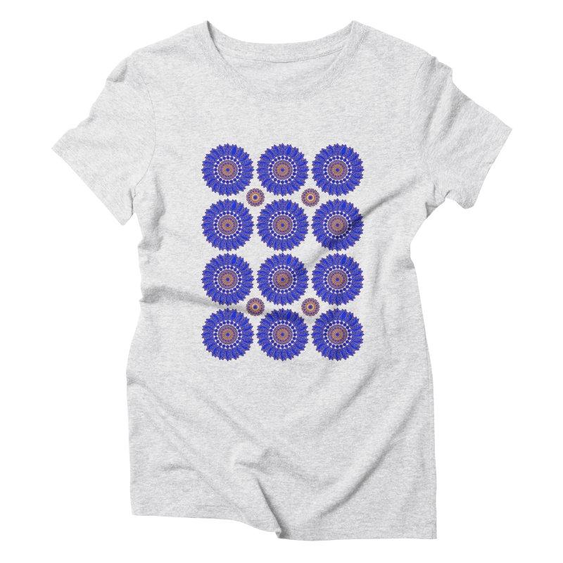 Blue Daisy  Women's Triblend T-shirt by jandeangelis's Artist Shop
