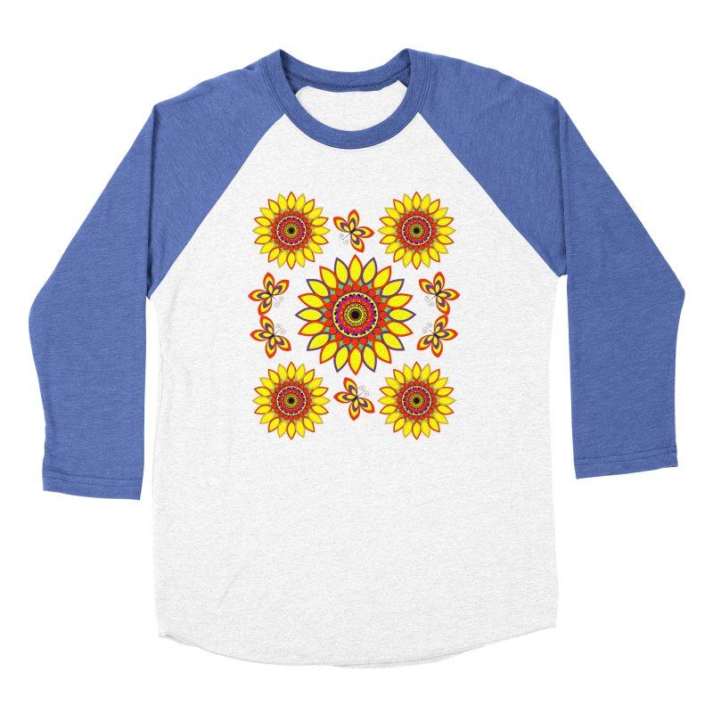 Daisy Days of Summer Women's Baseball Triblend Longsleeve T-Shirt by jandeangelis's Artist Shop