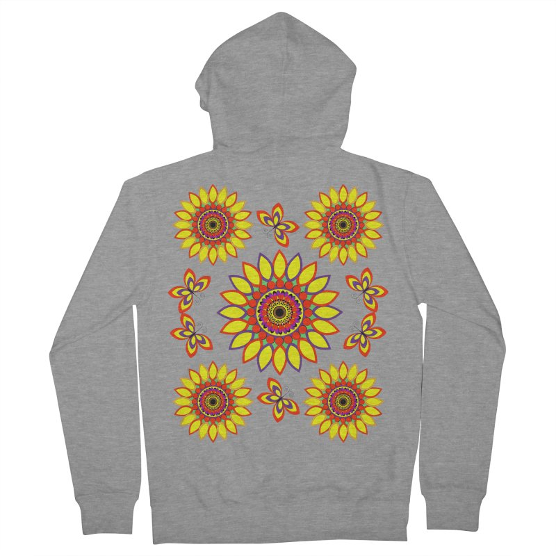 Daisy Days of Summer Women's French Terry Zip-Up Hoody by jandeangelis's Artist Shop