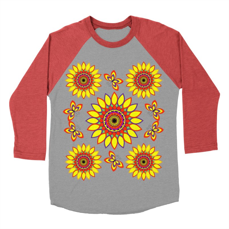 Daisy Days of Summer Women's Baseball Triblend Longsleeve T-Shirt by jandeangelis's Artist Shop