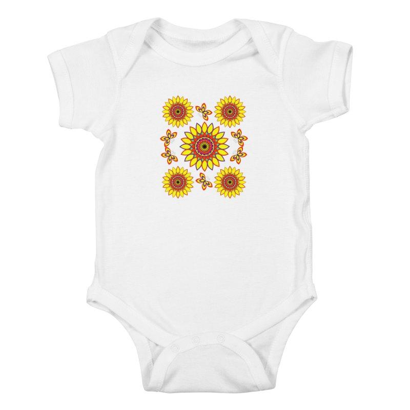 Daisy Days of Summer Kids Baby Bodysuit by jandeangelis's Artist Shop