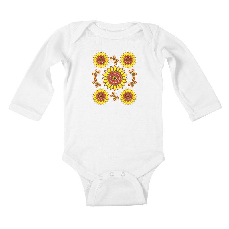 Daisy Days of Summer Kids Baby Longsleeve Bodysuit by jandeangelis's Artist Shop