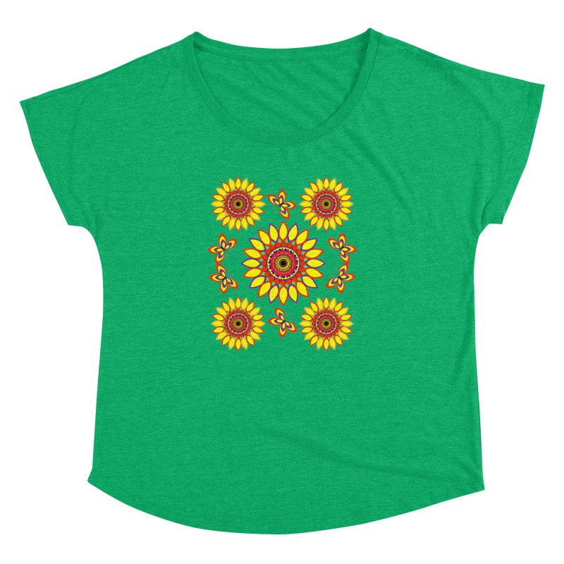 Daisy Days of Summer Women's Dolman Scoop Neck by jandeangelis's Artist Shop