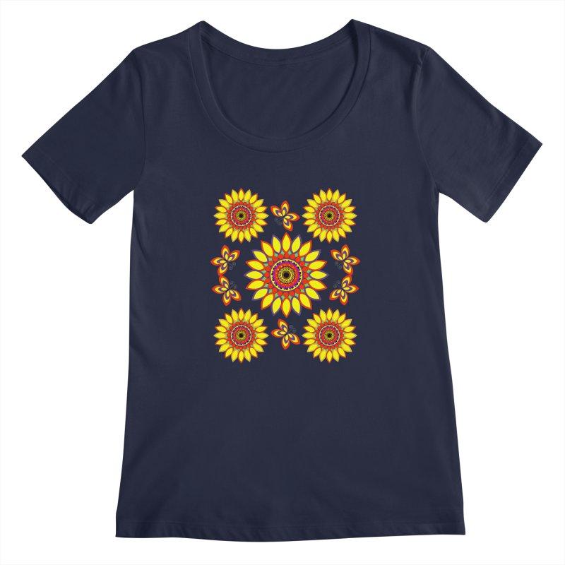 Daisy Days of Summer Women's Scoopneck by jandeangelis's Artist Shop