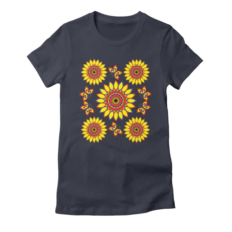 Daisy Days of Summer Women's Fitted T-Shirt by jandeangelis's Artist Shop