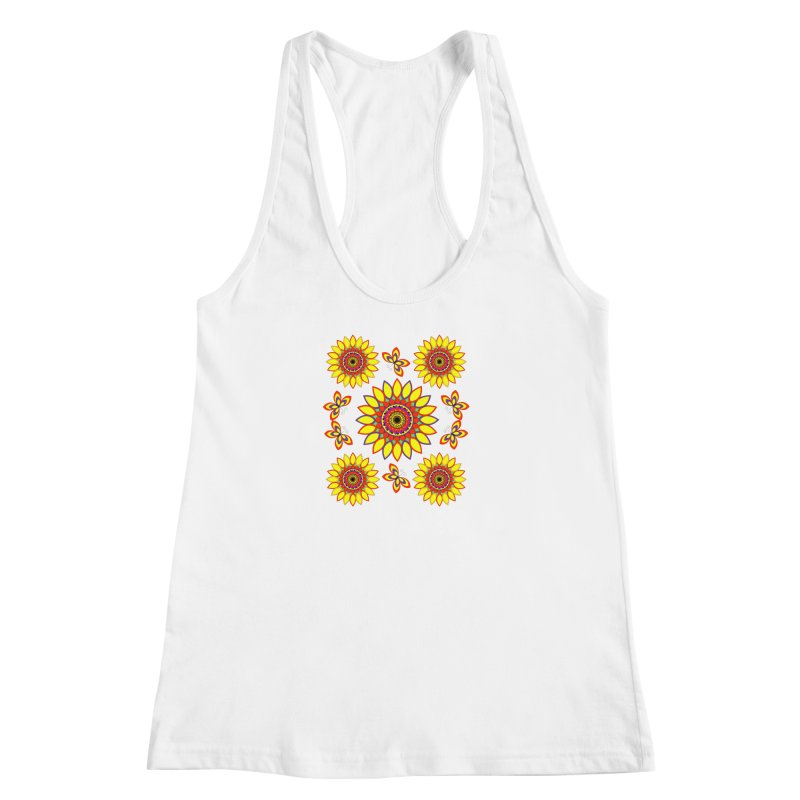 Daisy Days of Summer Women's Racerback Tank by jandeangelis's Artist Shop