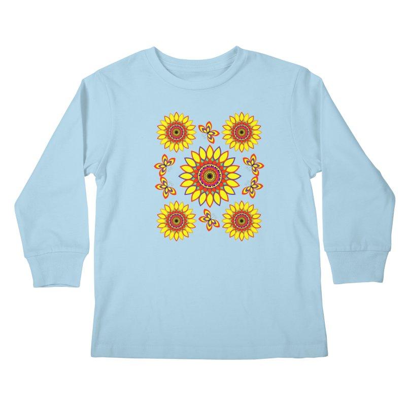 Daisy Days of Summer Kids Longsleeve T-Shirt by jandeangelis's Artist Shop