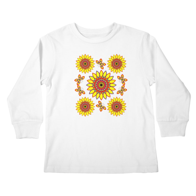 Daisy Days of Summer Kids Longsleeve T-Shirt by jandeangelis's Artist Shop