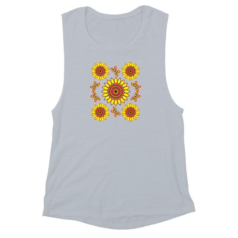 Daisy Days of Summer Women's Muscle Tank by jandeangelis's Artist Shop