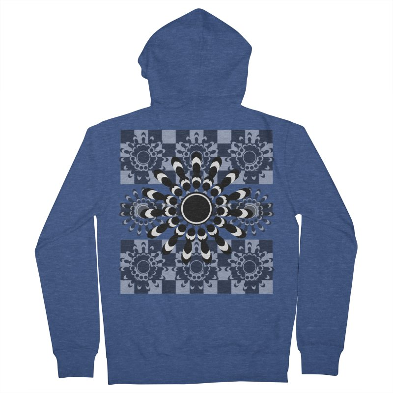 Flower Power  Men's Zip-Up Hoody by jandeangelis's Artist Shop