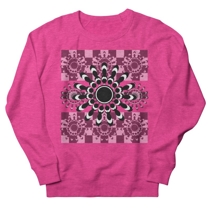 Flower Power  Women's French Terry Sweatshirt by jandeangelis's Artist Shop