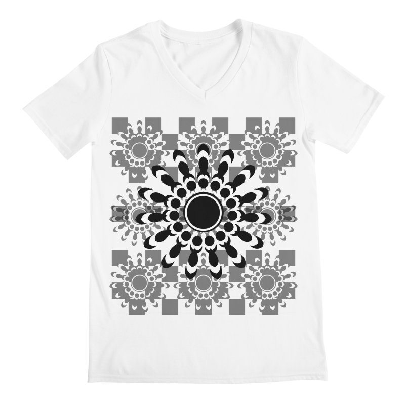 Flower Power  Men's V-Neck by jandeangelis's Artist Shop
