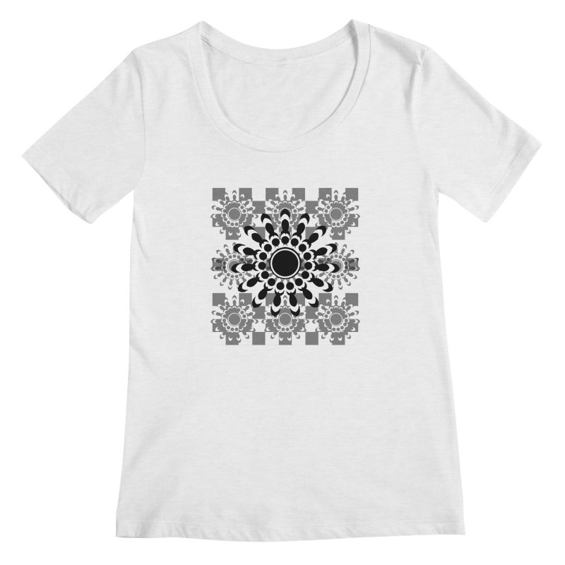 Flower Power  Women's Scoop Neck by jandeangelis's Artist Shop