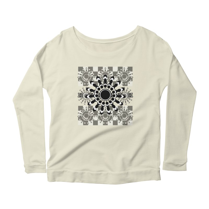 Flower Power  Women's Scoop Neck Longsleeve T-Shirt by jandeangelis's Artist Shop