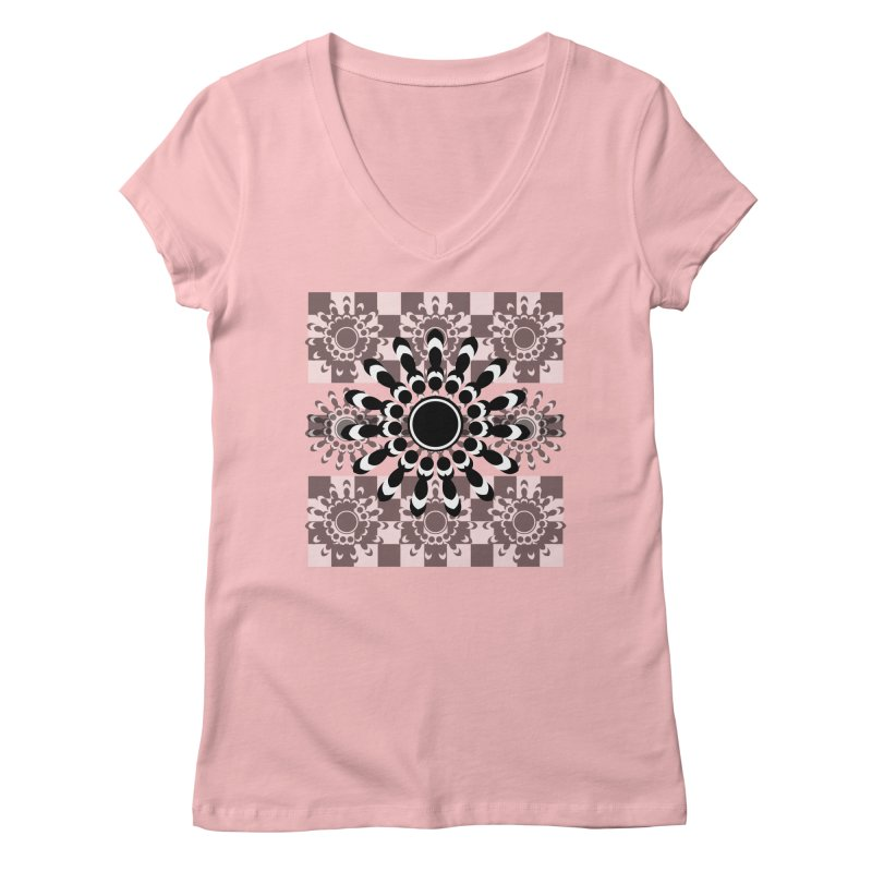 Flower Power  Women's Regular V-Neck by jandeangelis's Artist Shop