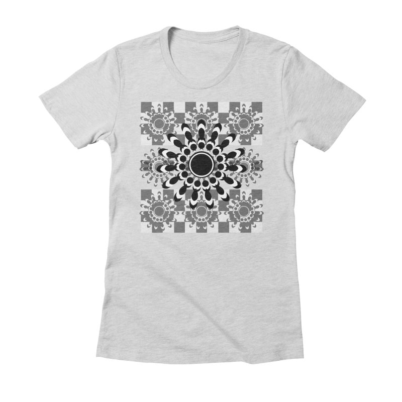 Flower Power  Women's Fitted T-Shirt by jandeangelis's Artist Shop