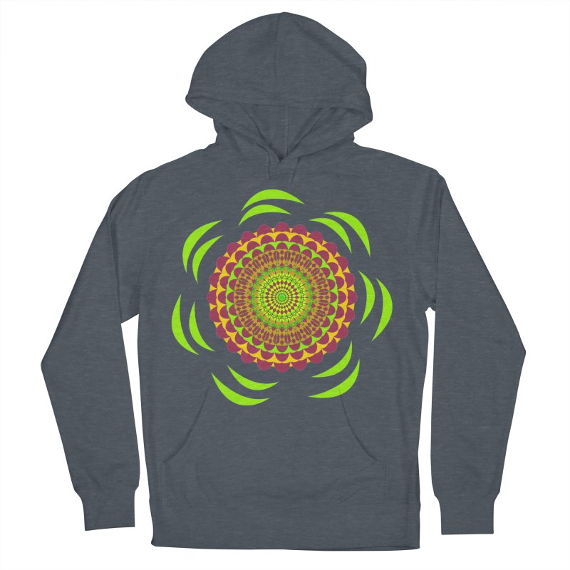 Psychedelic Flower Power Women's French Terry Pullover Hoody by jandeangelis's Artist Shop